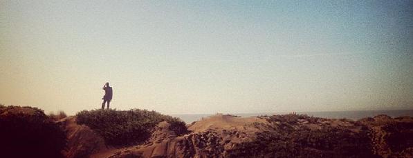 Brand voice lone man in desert