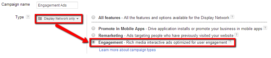 Google Engagement Ads