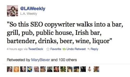 Blog SEO Joke