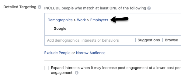 using facebook to target accounts