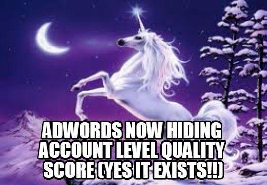 Account level quality score. Larry's reaction on Twitter.