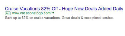 adwords ad without extensions