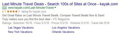 adwords ad with extensions