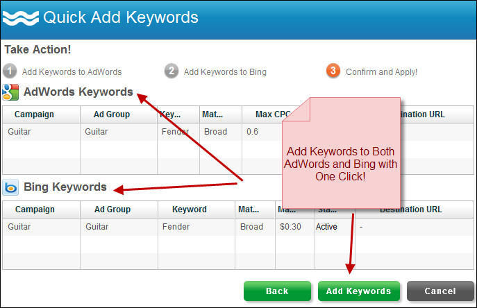 Quick Add Keywords