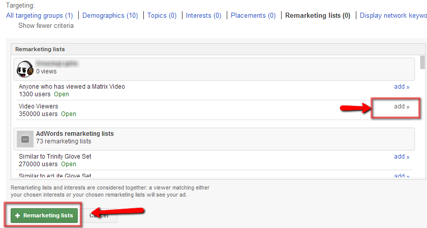 how to remarketing on youtube