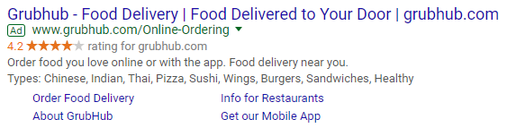 adwords ad with multiple ad extensions