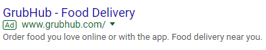 adwords ad with no ad extensions
