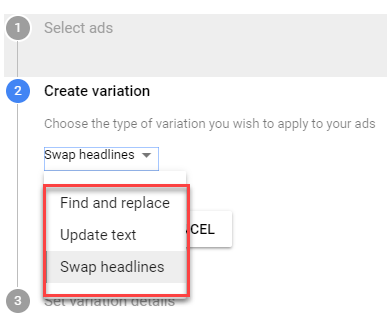 adwords 2017 new ad variant testing