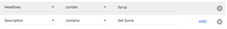 adwords ad variations multiple filters