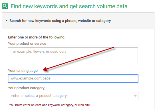 using keyword planner for adwords budgeting