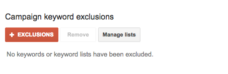 adwords campaign exclusions