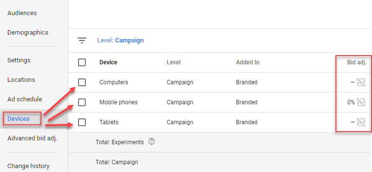 device bid adjustments adwords