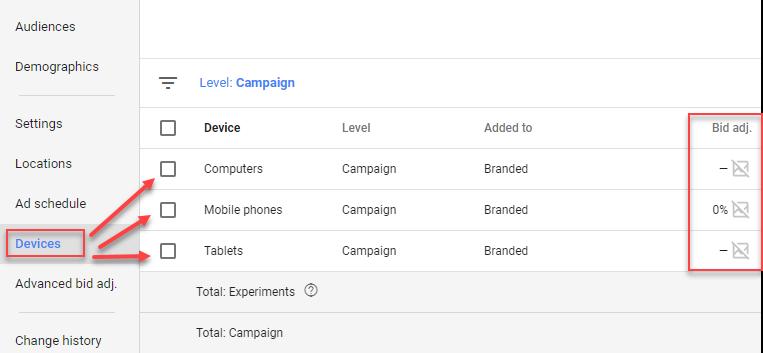 device bid adjustments adwords