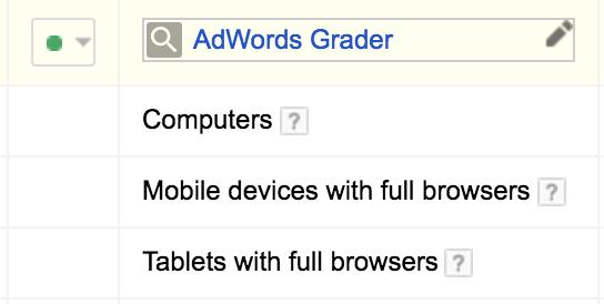 adwords device segmentation options