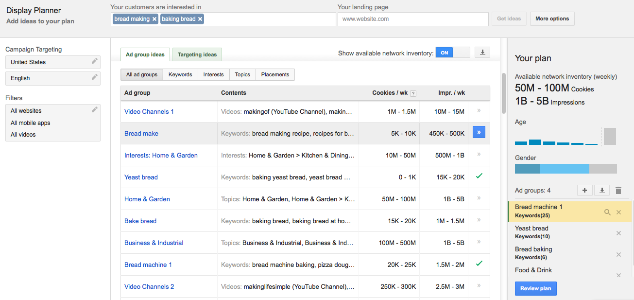 AdWords Display Planner