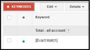 adwords exact match keyword