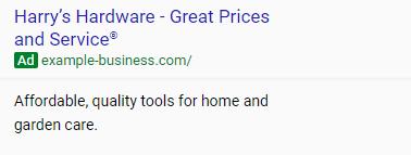 adwords express ad copy example