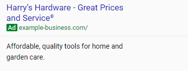 adwords express ad copy example