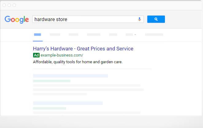 adwords express ads on a google serp