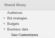 geo customizers in adwords