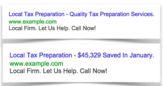 AdWords Headline Test
