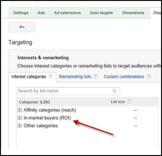 In Market Targeting