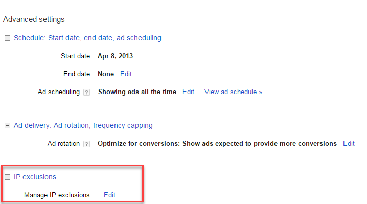 adwords ip exclusions for ppc landing page bots
