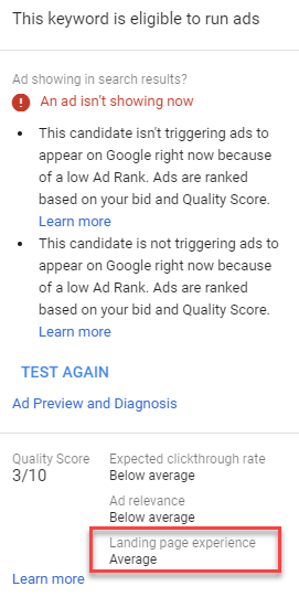 adwords keyword level insights