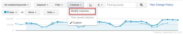 adwords ui modify columns