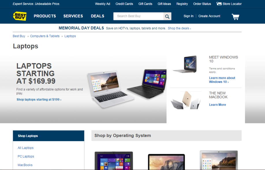 AdWords mistakes Best Buy landing page