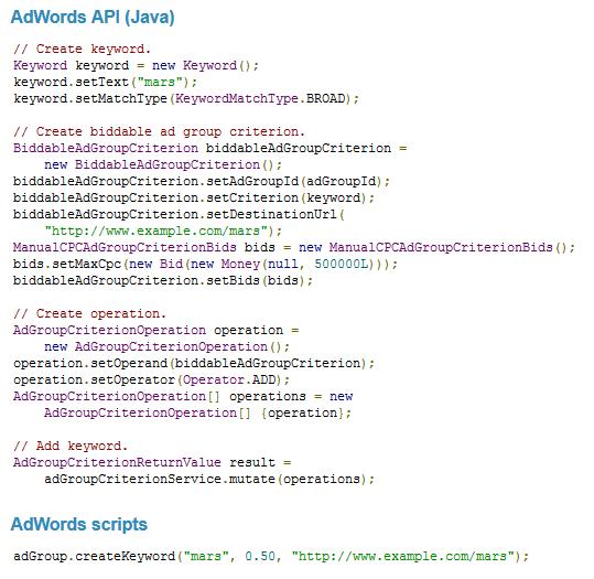 AdWords Script, AdWords Scripting, AdWords JavaScript, AdWords Script