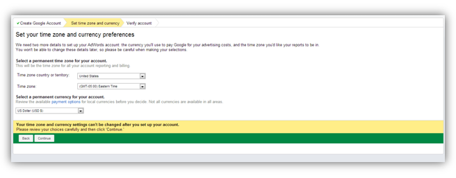 set up adwords account
