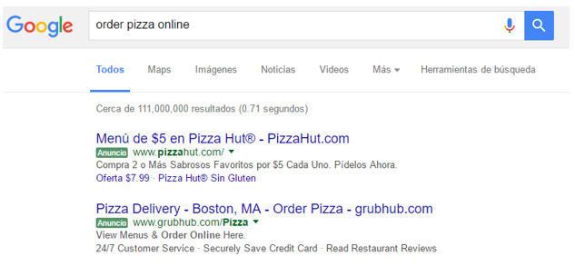 grubhub bilingual ad example