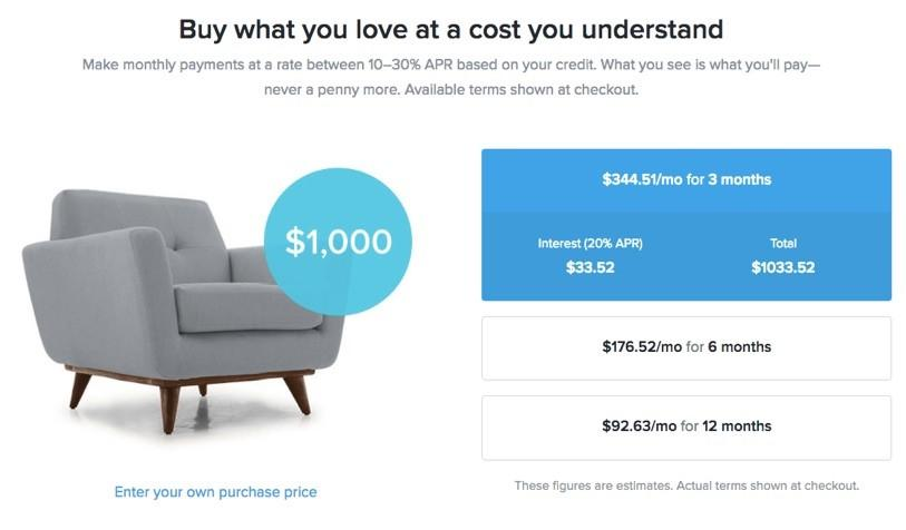 installment pricing examples