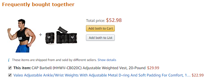 amazon cross-sell through frequently bought together
