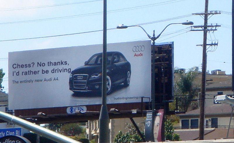 Ambush marketing Audi vs. BMW billboard war Santa Monica