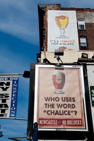Ambush marketing Newcastle Brown Ale chalice campaign