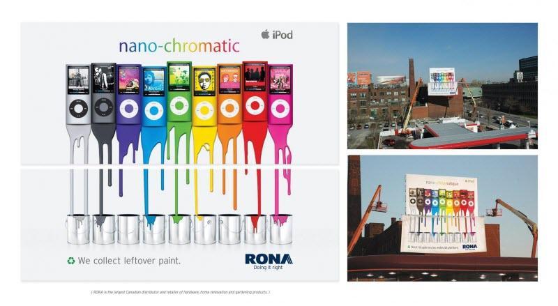 Ambush marketing Rona paint Apple iPod billboard