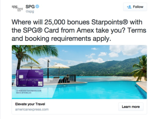 corporate twitter ad example