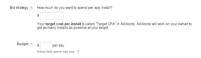 universal app campaign bid strategy