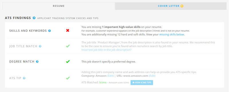 job specific resumes