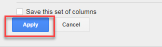 apply created column adwords ui