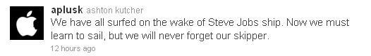 Steve Jobs remembered by Ashton Kutcher