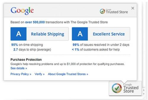 Automated Shopping Extensions Google Trusted Store