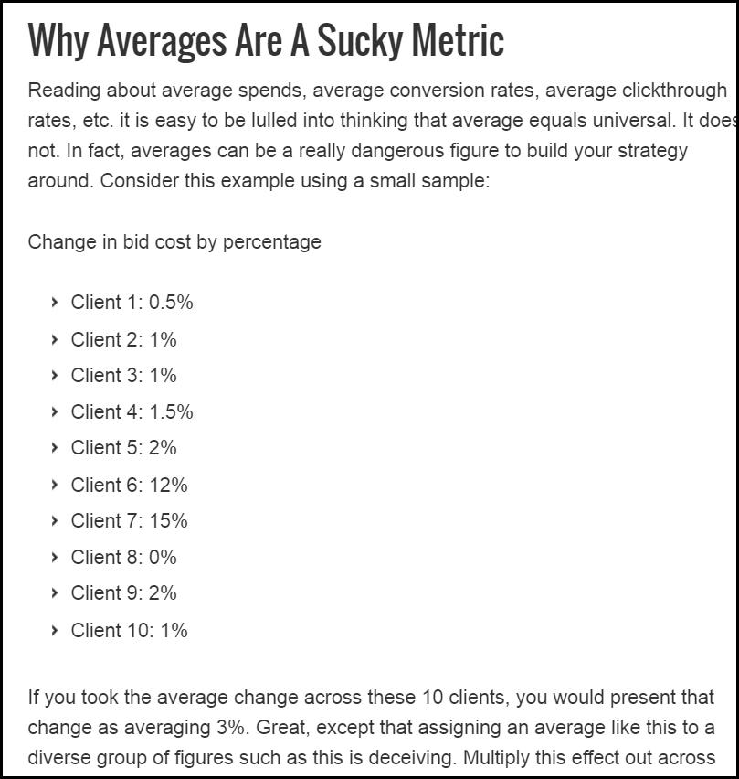 averages in ppc
