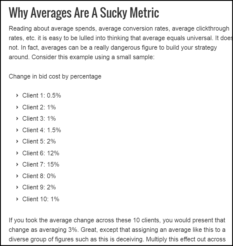 averages in ppc