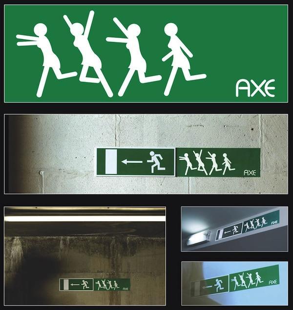 unusual advertisement axe