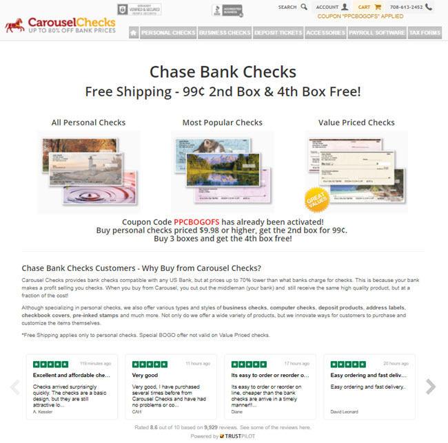 banking landing pages