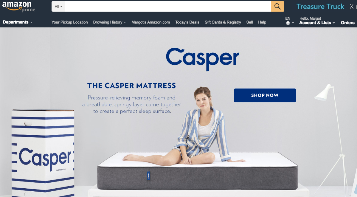 Beginner's guide to advertising on Amazon landing page example