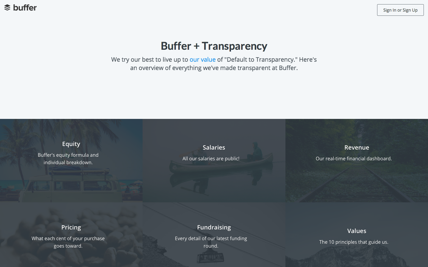 Benefits of content marketing Buffer transparency company culture